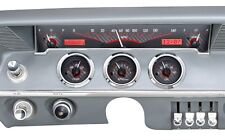 1961-62 Chevrolet Impala Dakota Digital Carbon Fiber & Red VHX Gauge Dash Kit