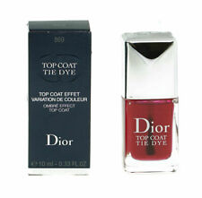 Dior Red Top Coat Nail Polish Tie Dye 869