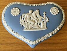 Wedgwood Jasper (Pale Blue) Heart Box