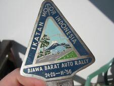 IKATAN AUTO RALLY 1956 BADGE DJAWA BARAT TATRA INDIA OLDIMER MOTOR 50ies RARE VW