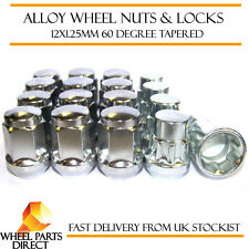 Wheel Nuts & Locks (12+4) 12x1.25 Bolts for Nissan 370Z 09-16