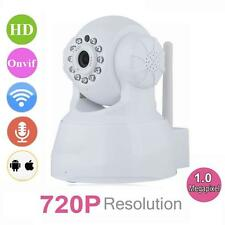 Wireless WIFI Pan Tilt 720P Security IP Camera Night Vision Web cam White EU @T