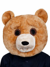 Teddy Bear Mascot Head Adults Fancy Dress Costume Overhead Big Head Animal Mask