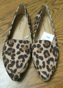 New! Time & Tru Women's Memory Foam Animal Leopard Print FEATHER FLATS Size 6.5