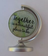 e Together is beautiful place to be YOU MEAN THE WORLD TO ME globe mini figurine