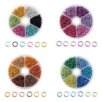 1080Pcs/Box Mixed 6 Colors Jewelry Making Accessories DIY Opening Jump Rings 6mm