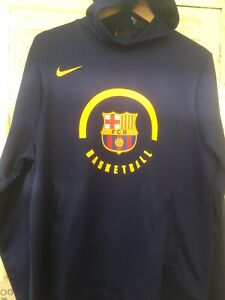 Nike FC Barcelona Dri-Fit Men's Badged Basketball Hoodie 933758 421New Size M