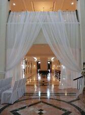 "Wedding  Backdrop drapes 2 panel set 10'x 57"" wide  White, Ivory Pink, Black"