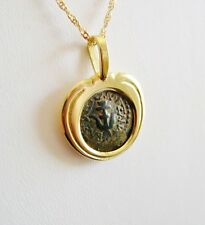 An 18K Yellow Gold 2000 year old Coin Pendant