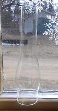 "12-1/8""H LONG NECK SLIM CHIMNEY 2-7/8""FITTER (1-1/4""H) CLEAR GLASS for OIL LAMP"