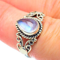 Rainbow Moonstone 925 Sterling Silver Ring Size 7 Ana Co Jewelry R51892F