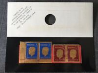 4 stamps in gold - 4 Timbres en Or - Martimor 2F Louis Pasteur - Made in France