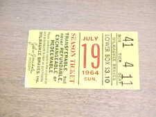 1964 Pittsburgh Pirates v Milwaukee Braves Baseball Ticket Hank Aaron Clemente