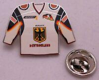 Pin / Anstecker + Eishockey + Trikot White + Deutschland + Olympia Silber #113