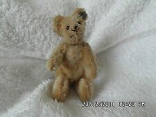 "Rare All Original 3.5"" 1925/34 Miniature With FF Button Gold Mohair Steiff Bear."