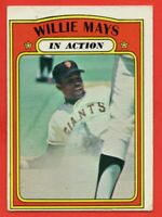 1972 Topps #50 Willie Mays VG-VGEX MARKED HOF San Francisco Giants FREE SHIPPING