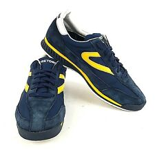 Tretorn Mens Sz US 9 UK 8 Rawlins 2 Blue Yellow Stripe Fashion Sneaker Shoes