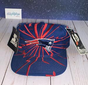 Vtg NOS Starter NFL Pro Line New England Patriots Snapback Cap Hat Shockwave NWT