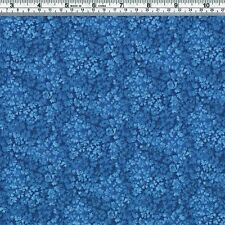 BLUE FLORAL Tone on Tone Fabric - FQ