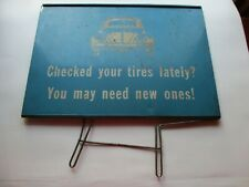 Vintage VW metal display tire sign RARE circa 1967 and earlier
