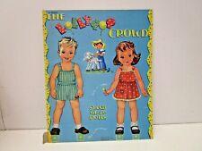 Vintage Samuel Lowe The Lollipop Crowd Paper Dolls   Uncut