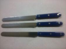 3 Tischmesser GOODWELL blau mit Wellenschliff (3601) Frühstücksmesser