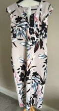 BNWT Ladies Marks And Spencer Bodycon Fitted Beige Floral Dress Size 10 Wedding