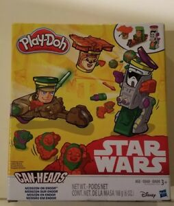 NEW Disney Star Wars MISSION ON ENDOR CAN HEADS PLAY-DOH PLAY SET