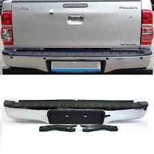 Fit Toyota Hilux Mk6 2005 -11 Rear Back Chrome Bumper Steps Hi Lux Invincible Vi