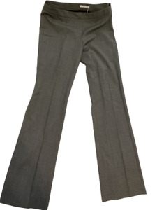 Hugo Boss Womens Dress Pants Gray Black Houndstooth Side Zipper 6 New