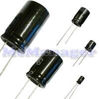 Range of Radial  Electrolytic Capacitors 0.47-10uF  25V-450V 105C