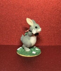 CHARMING TAILS FITZ & FLOYD FIGURINE - THE BEST BUNNY
