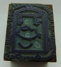 Printing Letterpress Printers Block Radiator With A Face