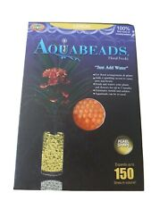 Aqua  Water Feed Beads Floral Flowers Plants  Pearl Shaped Lemon