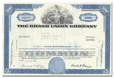 Grand Union Company Stock Certificate