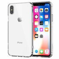 Apple IPHONE X Étui Transparent en Silicone pour Téléphone Portable Pare-Chocs