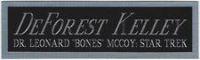 DeFOREST KELLEY STAR TREK DR. BONES NAMEPLATE FOR AUTOGRAPHED Signed BOOK-PHOTO