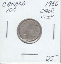 CANADA 10 CENTS 1966 ERROR CLIP