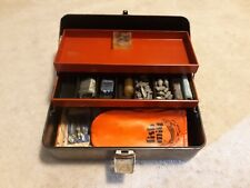 Vintage Union Steel Chest 2-Tray Fishing Tackle Tool Box