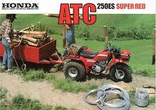 1986 HONDA ATC 250ES  SUPER RED  4 page ATV Motorcycle Brochure NCS