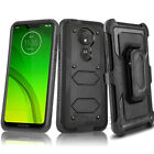 Motorola Moto E6 E5 Z4 G6 G7 Power Play Supra Clip Holster Case SCREEN PROTECTOR