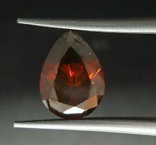 2.07 Carat Huge Red Diamond Loose Pear Shape Color Enhanced Asaar Real Image