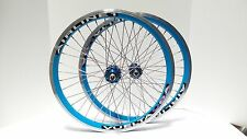 "New 20"" Vuelta Airline 1 BMX Wheelset Single Speed Sealed Bearing Blue/SS"