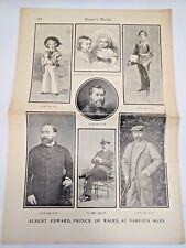 Harpers Weekly 1901 New York Partial Incomplete Prince Edward Mark Twain Article