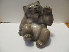 RARE 1946 Royal Copenhagen Brown Bear Figurine 2842 Denmark Artist dr? Paw Raise