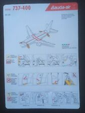 Safety Card / LAUDA AIR / BOEING 737-400 / OE-LNI