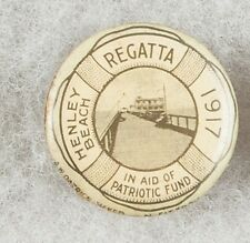 World War One 1917 Australia Henley Beach Regatta Patriotic Pinback Button Badge