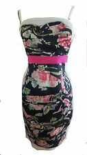 Dolce and Gabbana bustier floral panel roses silk organza D&G dress UK12EU38US8