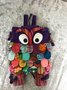 ❤️Patchwork Applique Handmade Owl Rucksack Bag - Brand New No Tags ❤️