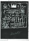 Jean Michael Basquiat Old silkscreen on black paper - Hand signed in pencil -